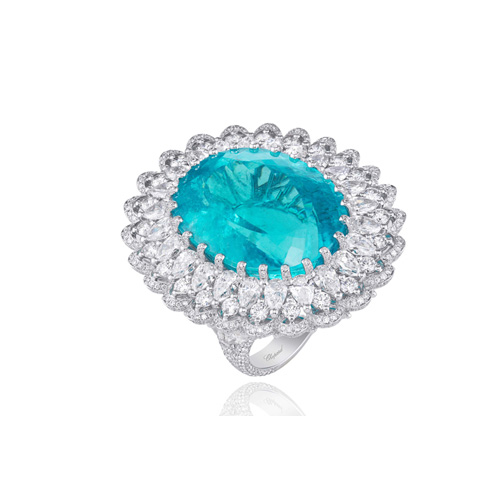 Special Orders - Made to Order Chopard Ring electric blue-green