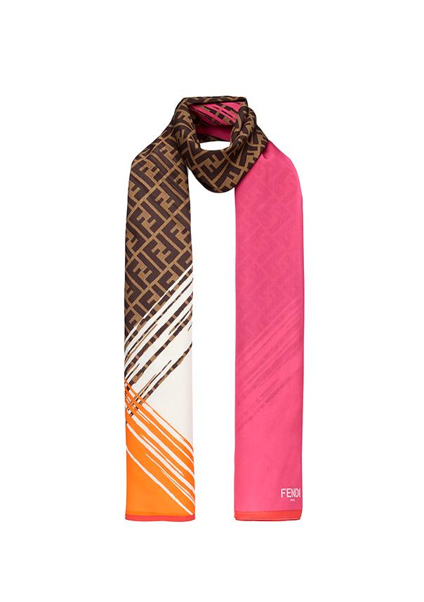 Fendi Estola y Stole Logo color Rosa, referencia FXT7913KB, medida 70 x 180 cm,Composición 100% Seda