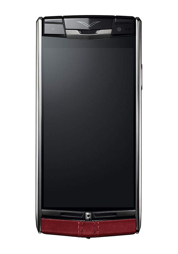 Luxury Corporate Gifts Vertu Phone Signature Touch Claret Calf