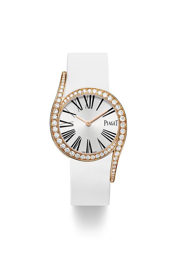 Reloj Piaget Limelight Gala G0A38161,Caja de 32 mm en Oro Rosa engastada con un total de 62 diamantes .Movimiento de cuarzo